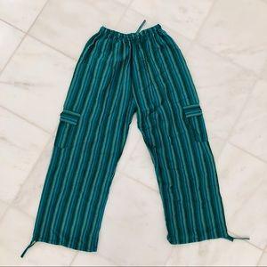 """green unisex """"happy pants"""""""